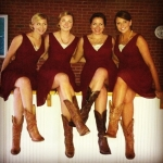 Cowboy boots for the bridesmaids