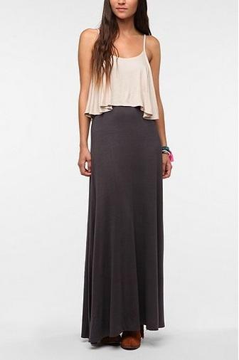 2013Feb13 - Double Layer Maxi Dress