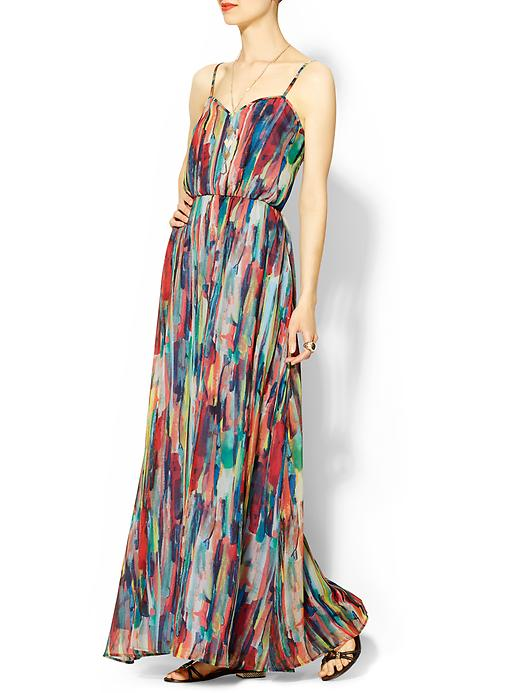 BB Dakota Cascade Print Maxi Dress