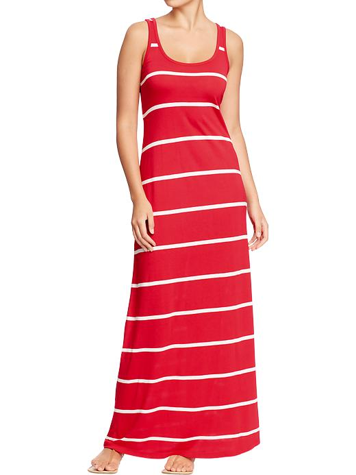 Europe 2013 - Red Stripe Maxi Dress