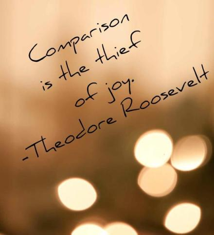 Comparison is the Thief of Joy Quote Graphic