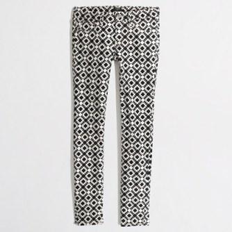 JCrew Factory Printed Skinny Jean