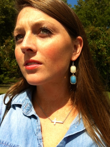 chambray button down target jewelry