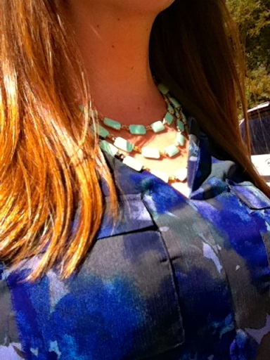 Fall Style navy monochrome statement necklace