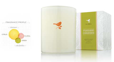 Mandarin Coriander Candle by Thymes