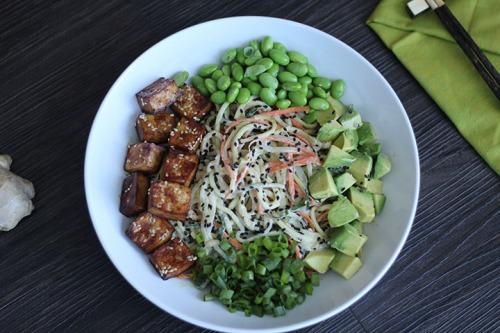 Inspiralized Tahini Vegetable Bowl Recipe