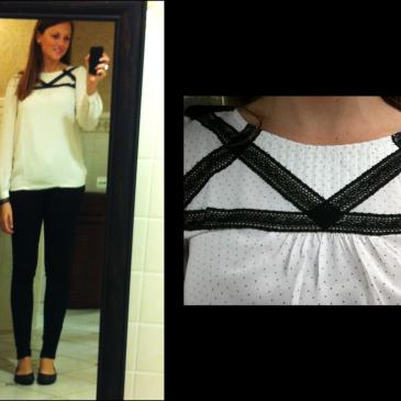 Black and White Flowy Fall Fashion