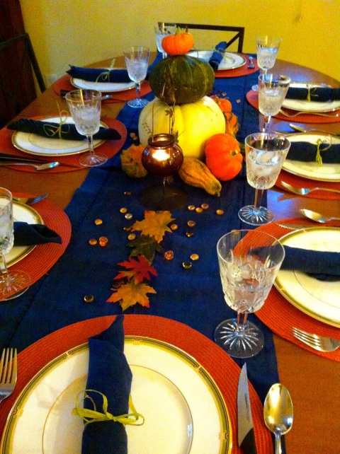 2013Oct30 - Fall Table Setting